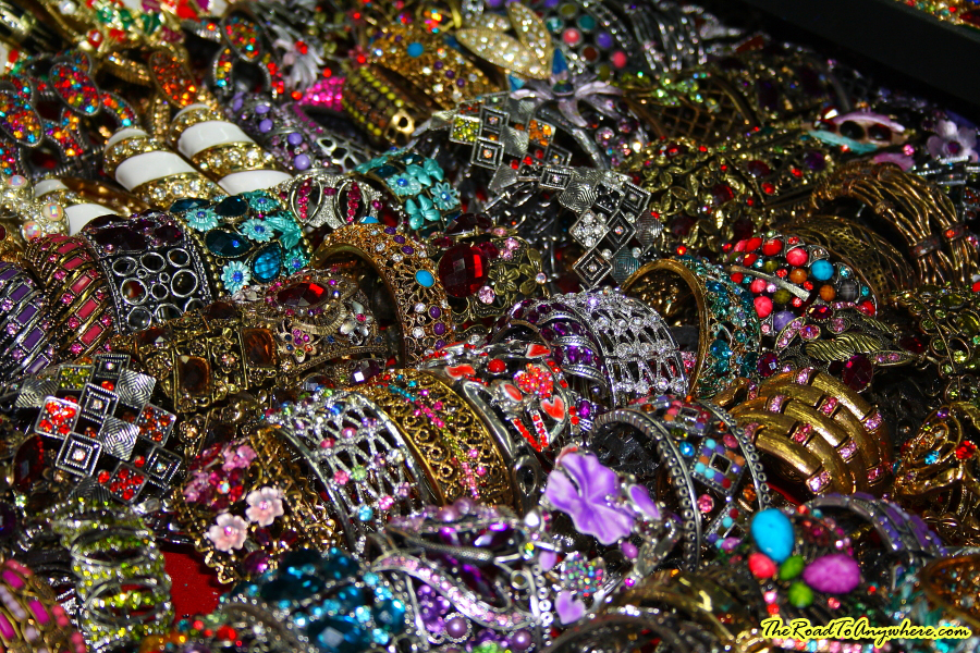 Bracelets at a market in Bangkok, Thailand