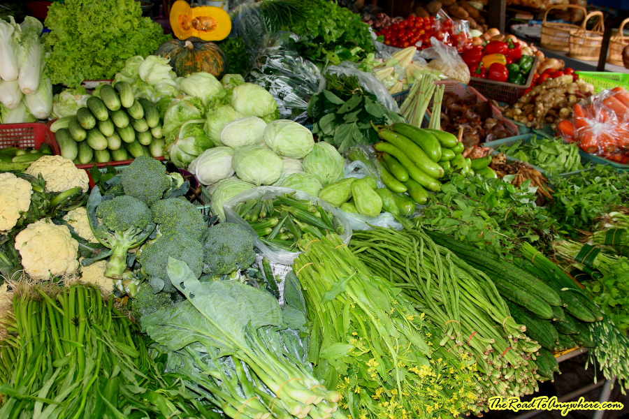 photo essay markets of thailand fresh vegetabless at market in chiang mai thailand