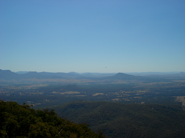 View from the summit of Mt Greville in Queensland, Australia