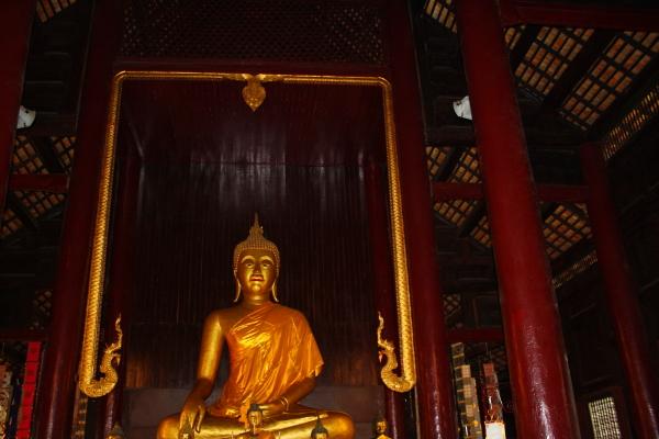 Inside Wat Pan Tao in Chiang Mai, Thailand