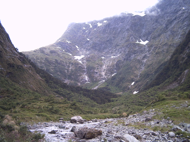Looking towards MacKinnon Pass on the Milford Track, New Zealand