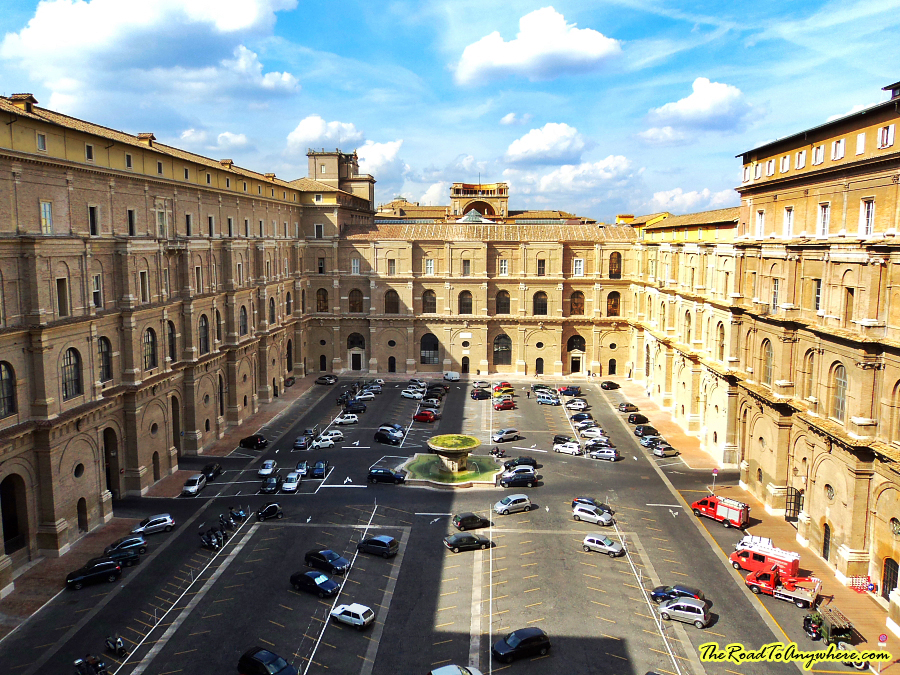 The Courtyard of the Belvedere in the Vatican City