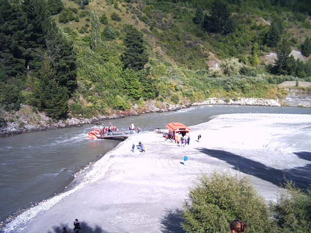Waiting at the Shotover Jet in Queenstown, New Zealand