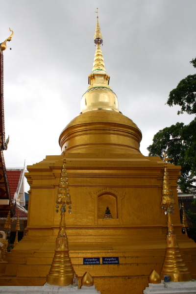 Chedi at Wat Phra Singh in Chiang Rai, Thailand