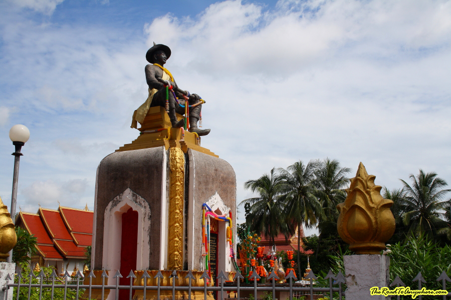 King Saysetthathirath monument at Pha That Luang in Vientiane, Laos