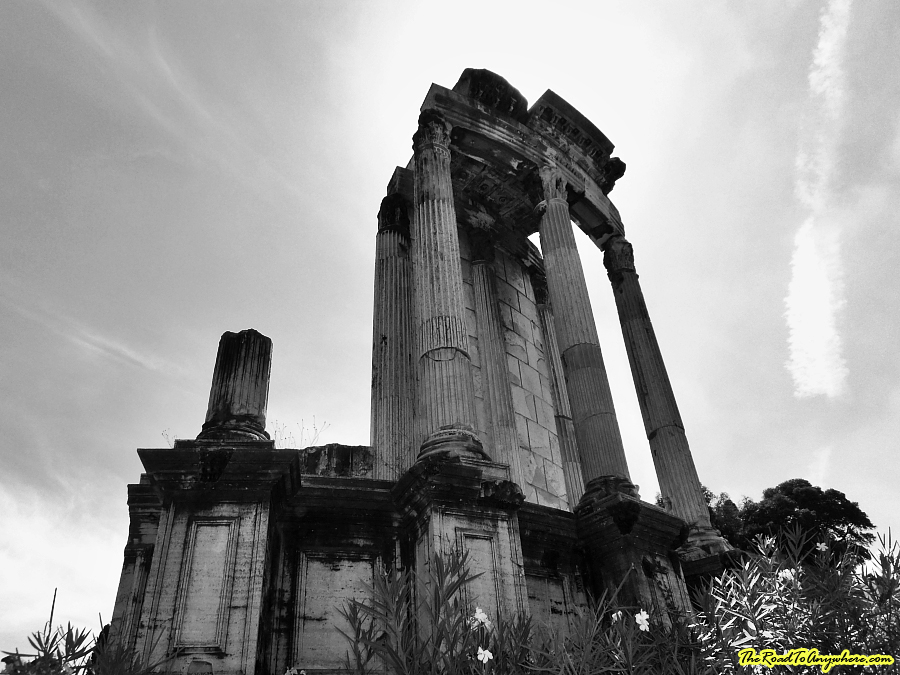 Ruins in the roman forum in Rome, Italy