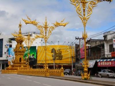Golden Clock tower in Chiang Rai, Thailand