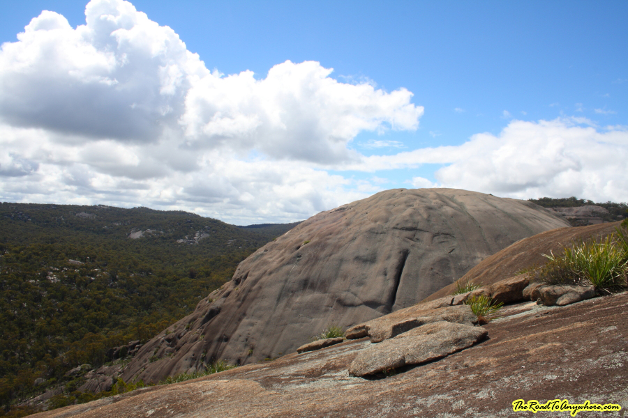 Views on the way up The Pyramid in Girraween National Park, Australia