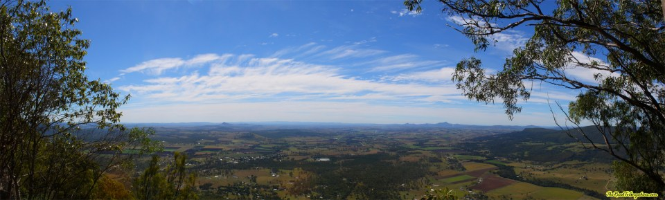 Panorama of the view from Mount Edwards in Moogerah Peaks National Park, Australia