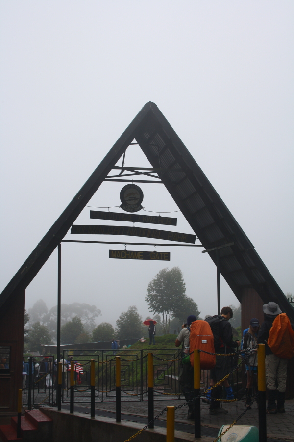 Machame Gate on Mount Kilimanjaro, Tanzania