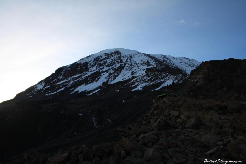 Kibo Peak from Barafu Camp on Mount Kilimanjaro, Tanzania