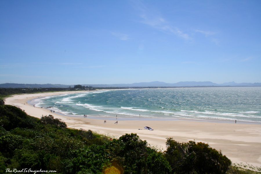 View of main beach in Byron Bay, Australia