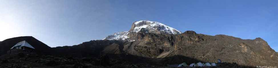 Panoramic view from Barranco Camp on Mount Kilimanjaro, Tanzania