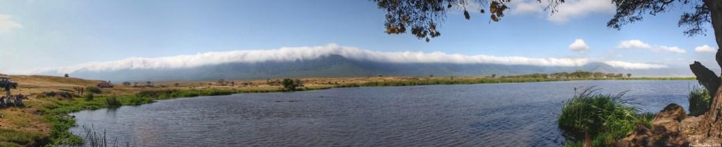 Hippo pool in Ngorongoro Crater, Tanzania