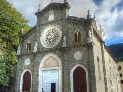 San Giovanni Battista Church in Riomaggiore, Cinque Terre, Italy