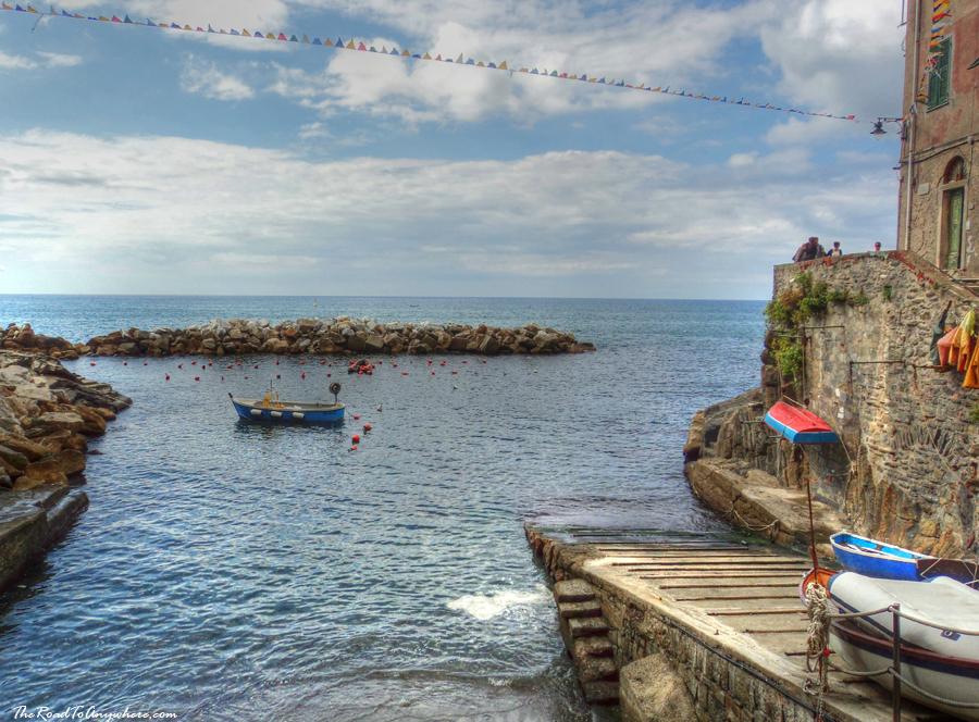 Harbour in Riomaggiore, Cinque Terre, Italy