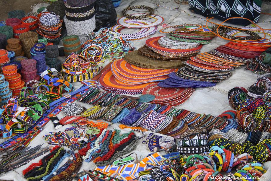 Bead crafts at Arusha Curio Market, Tanzania