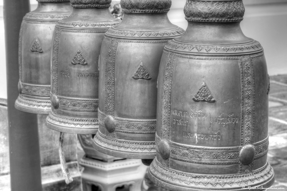 Buddhist bells at Wat Arun in Bangkok, Thailand