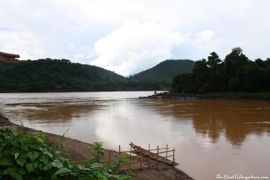 Nam Khan River runs into the Mekong River in Luang Prabang, Laos