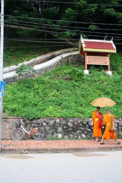 Monks in Luang Prabang, Laos