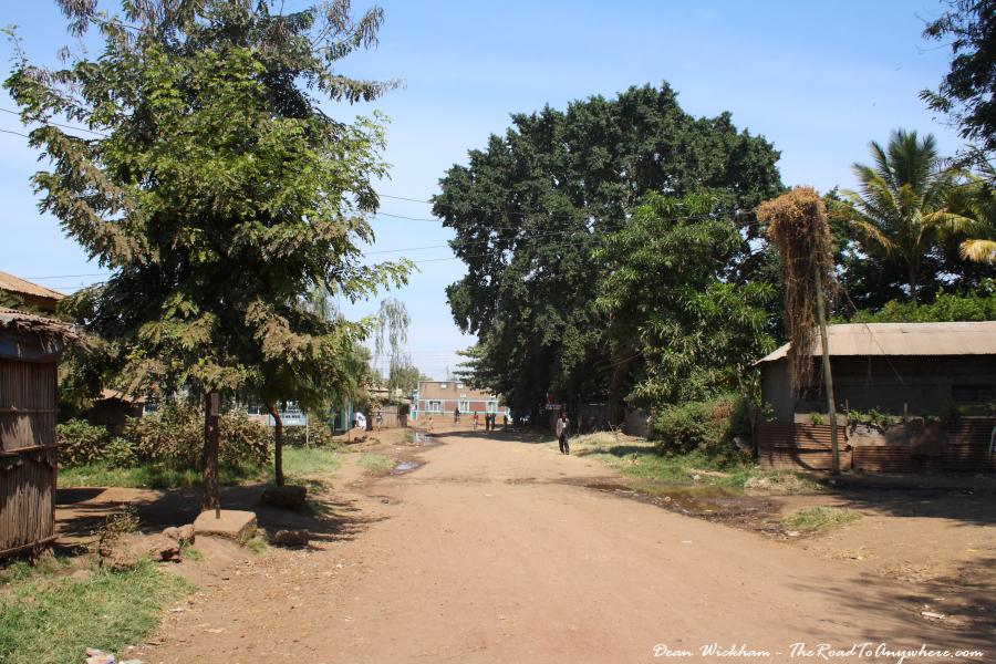 A dirt street in Mto wa Mbu, Tanzania
