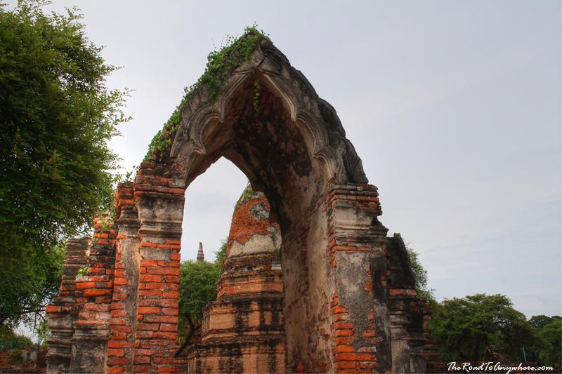 Archway at Wat Phra Ram in Ayutthaya, Thailand
