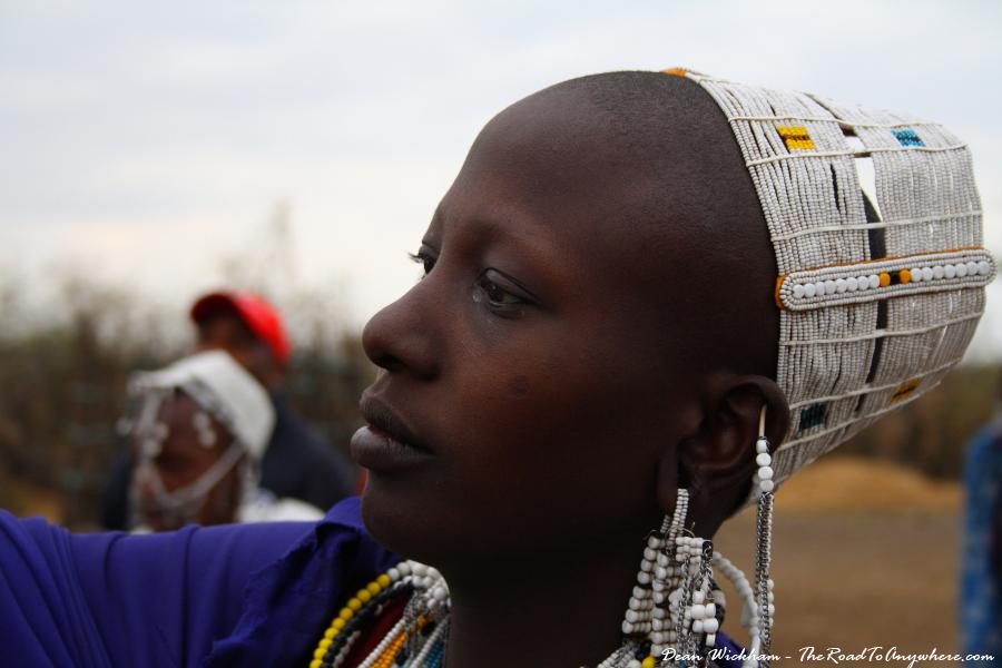 A young Masai woman in a Masai Village in Tanzania