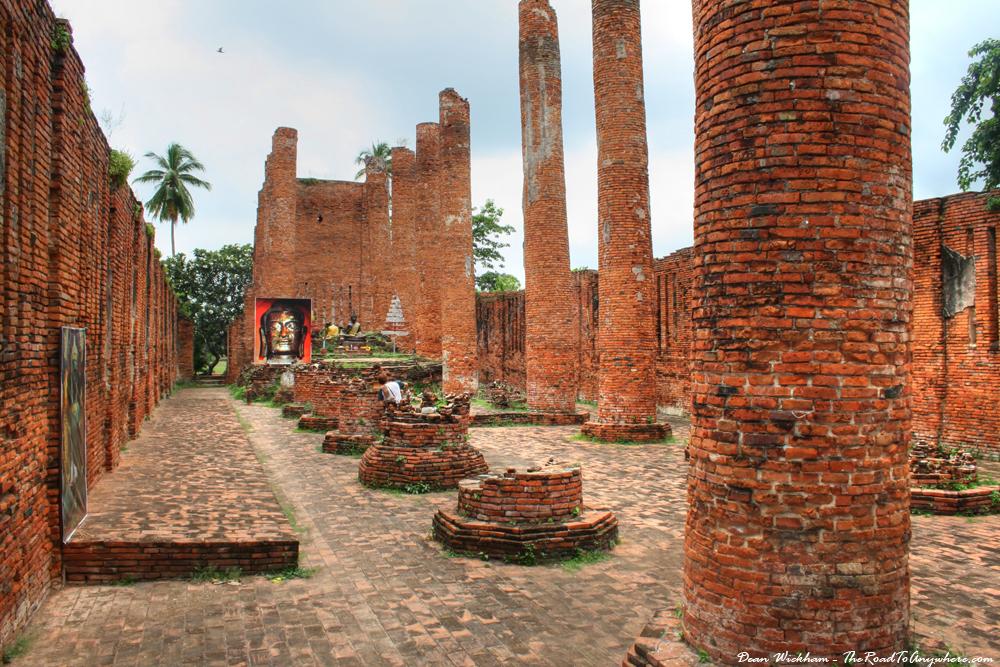 The Viharn at Wat Thammikarat in Ayutthaya, Thailand