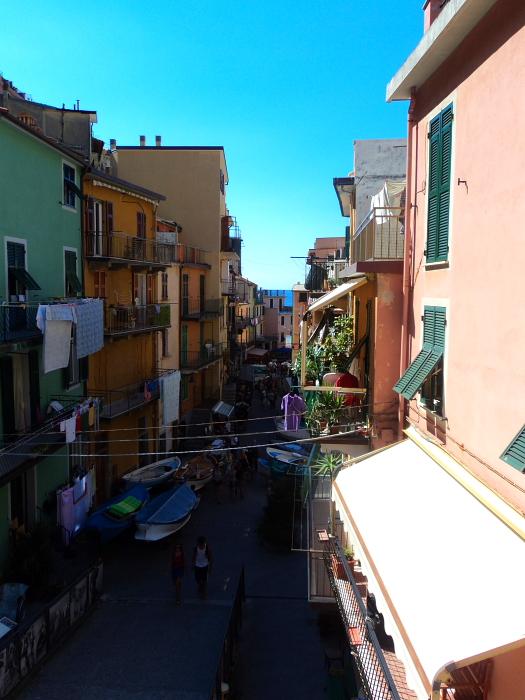 Main street in Manarola in Cinque Terre, Italy