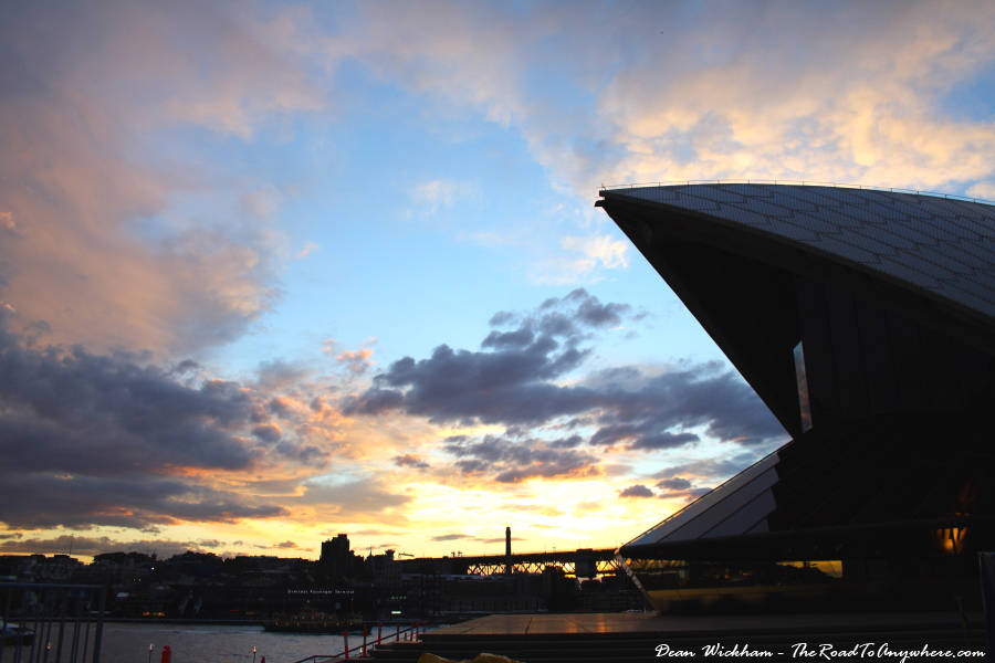Sunset from the Sydney Opera House in Sydney Australia
