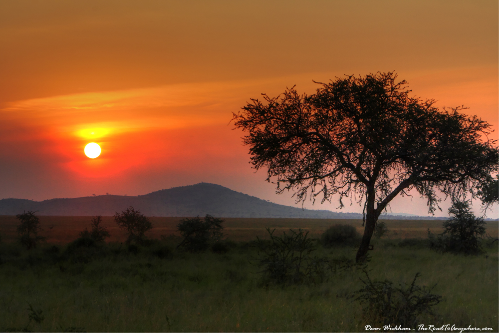 Beautiful sunset in Serengeti National Park, Tanzania