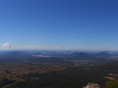 Panorama taken from Mount Cordeax in Main Range National Park, Australia