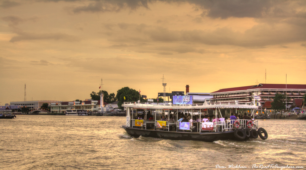 Ferry on the Chao Phraya River in Bangkok, Thailand