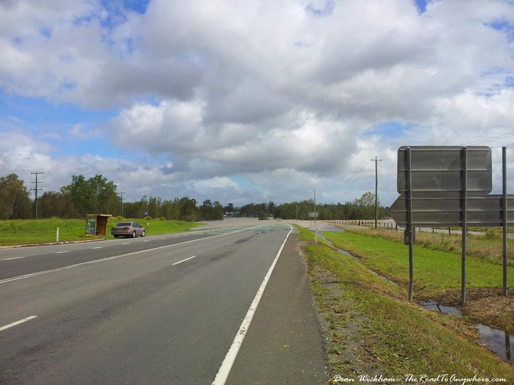 Flooded road at Jimboomba, Australia