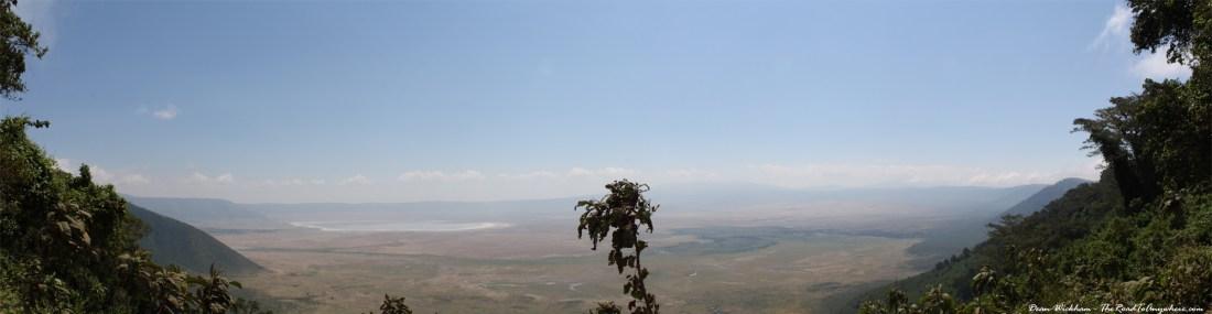 Panoramic View of Ngorongoro Crater in Tanzania