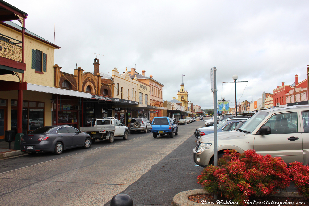 The main street in Glen Innes, Australia