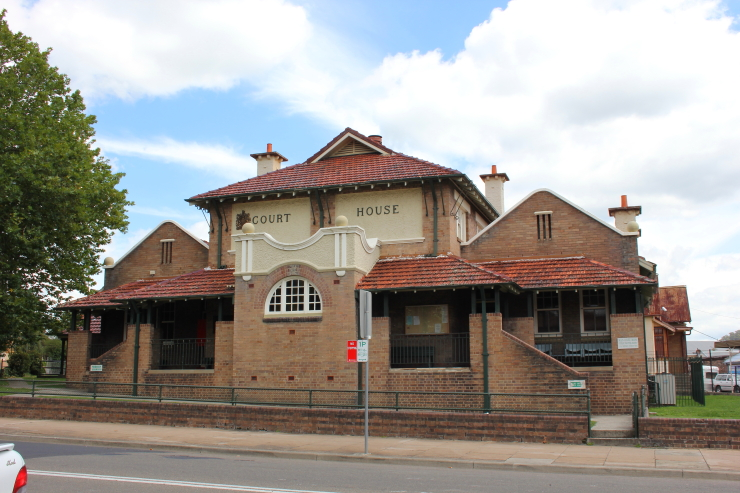 Old courthouse in Lithgow, Australia