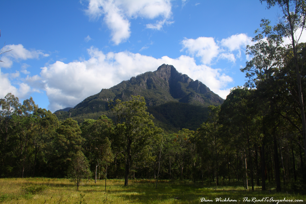 View of Mount Barney in Queensland, Australia