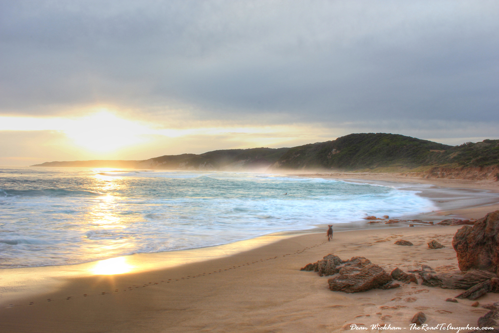 Sunset on Johanna Beach on the Great Ocean Road, Australia