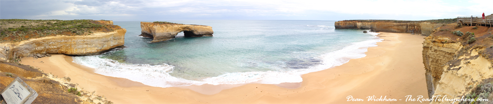 Panorama of London Bridge on the Great Ocean Road, Australia