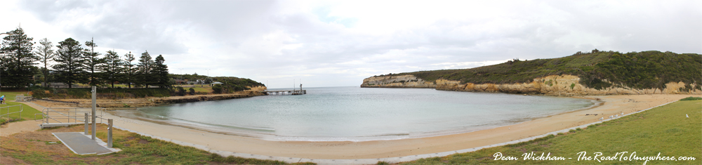 Panorama of Port Campball on the Great Ocean Road, Australia