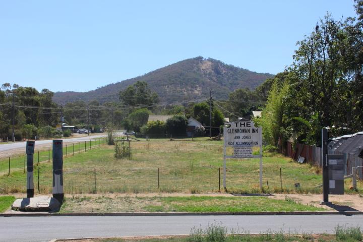 Site of Ann Jones' Inn in Glenrowan, Australia
