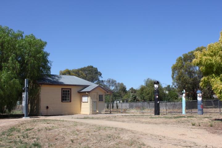 Railway station in Glenrowan, Australia
