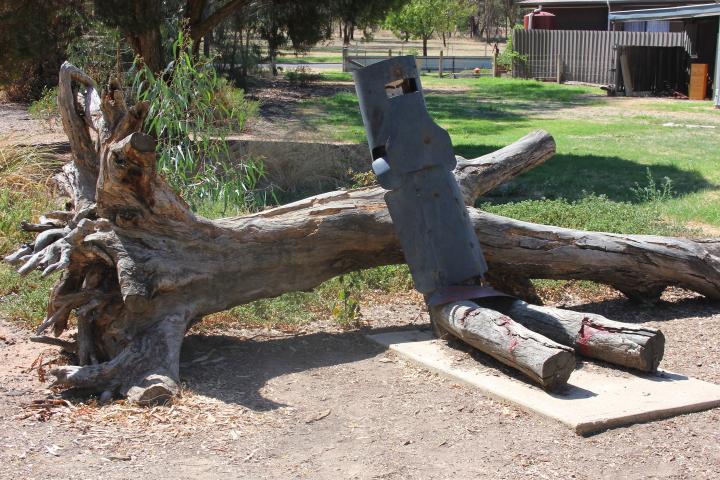 Site of Ned Kelly's arrest in Glenrowan, Australia