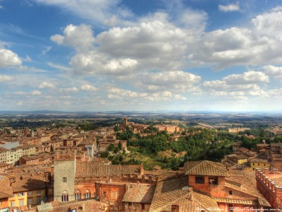 View of the countryside in Siena, Italy