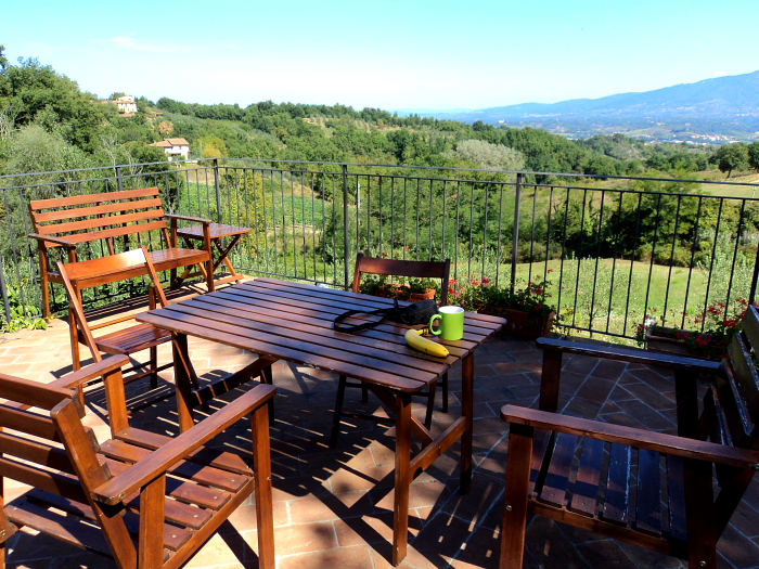 View from our villa in Tuscany