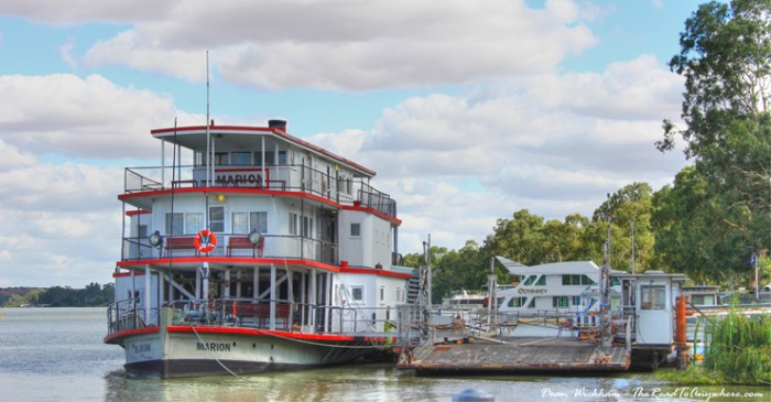 Old paddle steamer on the Murray River at Mannum, South Australia