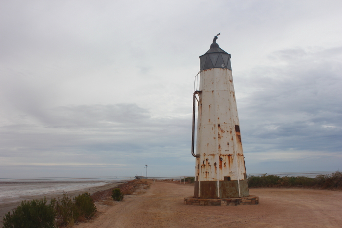 Old lighthouse and jetty at Port Germein, South Australia