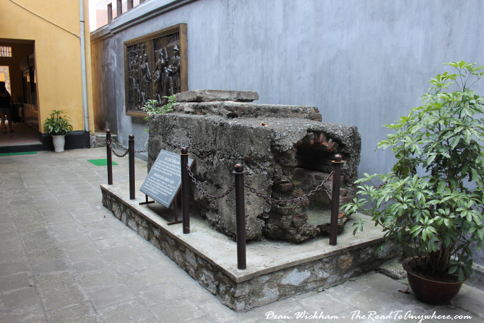 Sewer used in an escape attempt in Hoa Lo Prison in Hanoi, Vietnam
