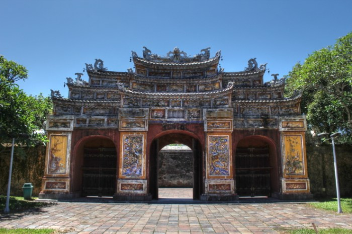Gate to To Mieu Temple in Hue, Vietnam